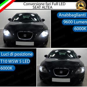 CONVERSIONE FARO FULL LED SEAT ALTEA 5P ANABBAGLIANTI + LUCI POSIZIONE 6000K