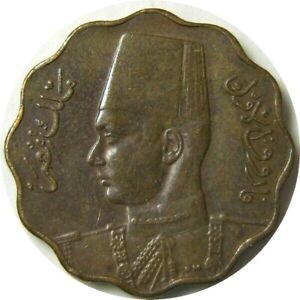 elf Egypt Kingdom 5 Milliemes 1943 AH 1362 Farouk WW II