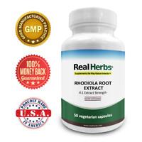 Real Herbs Rhodiola Rosea Extract - 2,800mg of Rodiola Rosea Root - 50 Veg Caps