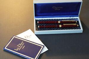 1970's Christian Dior set (fountain pen + Rollerball) Perfect  - Boxed  EF Nib