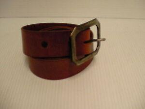 True religion belt genuine leather gunmetal buckle size 40 inch lite brown new
