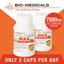 TGA LISTED 2 X 60 CAP PURE GARCINIA CAMBOGIA MAX! SUPER STRENGTH - 120 CAPS