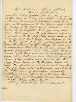Handwritten Letter 1853 Lewis Crandell New Baltimore 2 Sutherland NY Congress