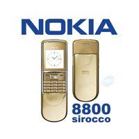 TELEFONO CELLULARE NOKIA 8800 SIROCCO GOLD ORO GSM LUXURY PHONE-