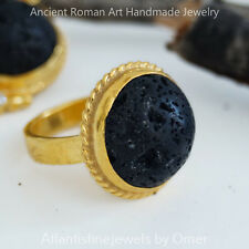 LAVA RING 24K  GOLD OVER 925 STERLING SILVER BY OMER TURKISH FINE JEWELRY
