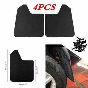 Black Car Mud Flaps Splash Guards Scratch Wearing Resistant For Front Rear 4Pcs