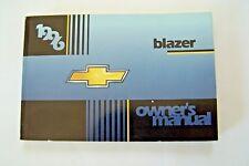 96 1996 Chevrolet Blazer owners manual new original