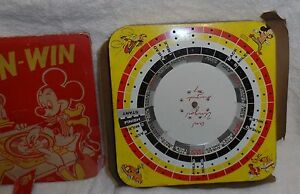 1950's Mickey Mouse Spin-N-Win Game no. 703, SPIN MICKEY with original box.