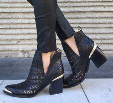 Jeffrey Campbell Sabrosa Cutout Boots Booties Size 6.5