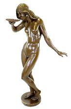 Girl Drinking from a Shell - Art Nouveau Bronze Sculpture - Edward McCartan