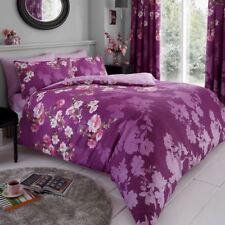 Roseanne Floral Set Housse de couette double Parure de lit réversible violet