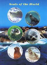 Palau 2017 MNH Seals of World 6v M/S Harp Seal Sea Lion Wild Animals Stamps