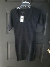 New Nwt Bcbg Maxazria Dress Angora Wool Cable Knit Sweater Black Small $160