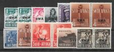 South West Africa 1941/2 Large War set of 11 values with extra 1/2d & 4d shades