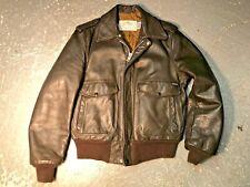 Superb SCHOTT IS 674 A-2 G1 Leather Flight Jacket Star Sz 40