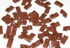 Lego Lot of 50 New Reddish Brown Slope Curved 2 x 1 No Studs Pieces