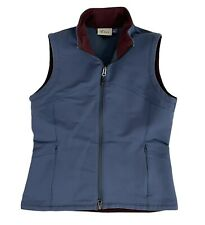 Ibex Full Zip Climawool Blue Vest Women's Size Small Polyester Wool Blend