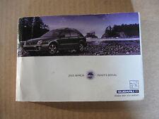 2003 Subaru Impreza WRX Interior Owners Manual