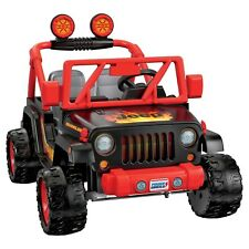 Fisher Price Power Wheels Tough Talking Jeep Wrangler in Red, Brand New