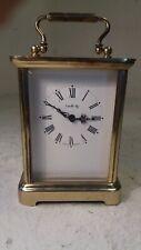 Vintage Latón Entubado Carro Reloj