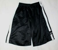 Nike Boys Shorts Size M 10 12 Black White Stripe Athletic Sports Gym School