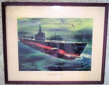 1943 WORLD WAR 2 WW2 Framed Print EB Co Pride of  Fleet Electric Boat Submarine*