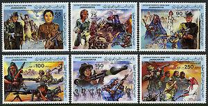 Libye 1130-1135, MNH Revolution, 14th Anniv. Femme Dans L'Armées Forces, 1983