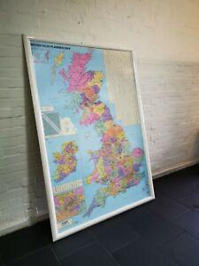 Large Laminate British Isles Planning Map 118cm x 165cm