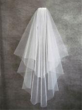 New White/Ivory Wedding dress veil 2T simple elbow veil Bridal Veil comb