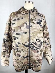 Under Armour BROW TINE Scent Control Barren Camo Men's Hooded Hunt Jacket Large