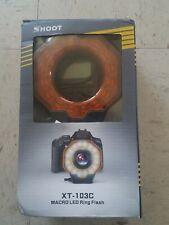 Shoot MACRO XT 103C LED Ring Flash Light for Nikon Canon Olympus DSLR SLR,***