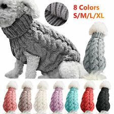 Winter Dog Sweater Jacket Puppy Cat Warm Knitted Jumper Sweater Coat Pet Costume