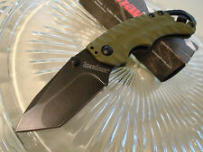 Kershaw Shuffle II Olive Black Wash Tanto Pocket Knife Cap Lifter 8750TOLBW