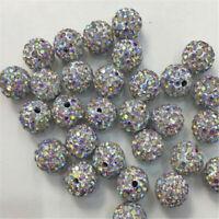 10mm Rhinestone Crystal Disco Ball Wholesale Shamballa Beads Opaque DIY Charm