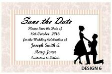 1 x SAVE THE DATE WEDDING PERSONALISED CARDS INVITATIONS CUSTOM + FREE MAGNETS