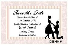 1 x SAVE THE DATE WEDDING PERSONALISED CUSTOM CARDS INVITATIONS + FREE MAGNETS