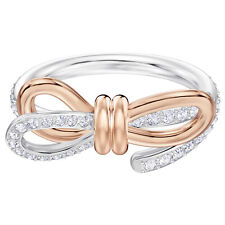 Swarovski Crystal Lifelong Medium Bow Ring, 54460641 (Size 7 / M / 55)
