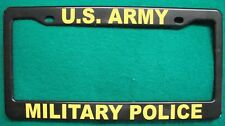 License Plate Frame-U.S. ARMY/MILITARY POLICE-Polished ABS- #3370Y