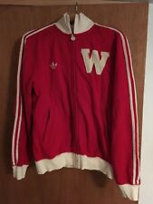 Vintage Adidas Wisconsin Badgers Track Jacket Men's Small - Retro Look
