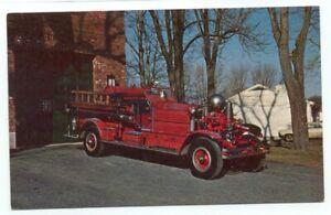 Pawcatuck Fire Engine No. 1 1928 Ahrens-Fox Postcard