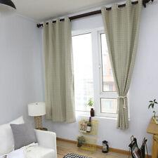 Plaid Curtain Bedroom Window Eyelet Curtain Drape Blackout Nordic Style Panel