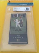 TOM WATSON SIGNED 1997 MASTERS COLLECTION CARD BECKETT CERTIFIED