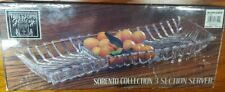 Vintage Tabletops Gallery glass 3 section SERVER Sorento Collection Beautiful!