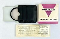 Vintage Photax 55mm 1A Optical Filter Boxed With Case