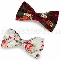 Men's Casual Flowers Floral Printing Bowtie Pre-tied Bow Tie Bowknot Adjustable