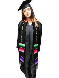 Graduation stole Mexican class of 2021 sash embroidered present zarape