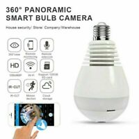 Panoramic Mini Wifi Wireless IP SPY Hidden Camera 1080P HD Security Light Bulb