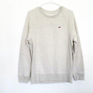 Hollister Sweatshirt Womens Size Small Beige Long Sleeve Crew Neck Sweater