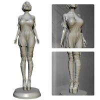 1/24 Resin Figure Model Kit Women Soldier Unpainted H3Y9