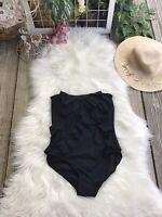 MICHAEL Michael Kors Black Strapless Ruffled Bathing Suit Size 6